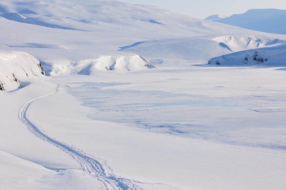 Zimowy krajobraz Norwegii