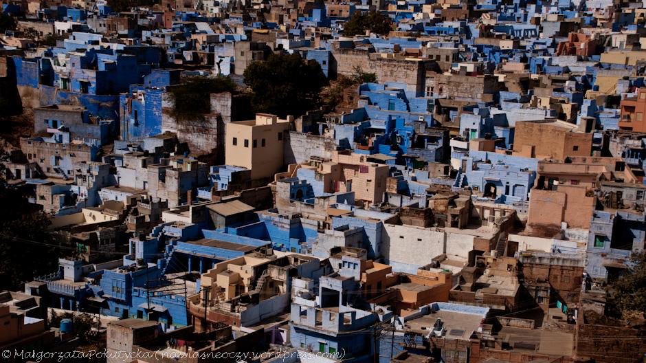 Błękitna panorama Indii