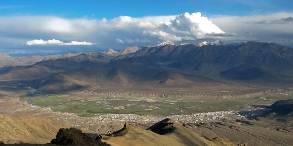 Widok na Murghab w Tadżykistanie