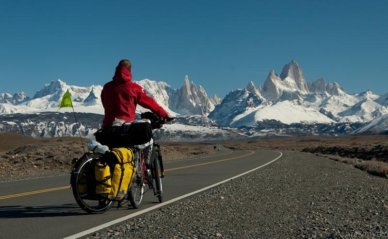 Rowerowy etap triatlonu patagońskiego.