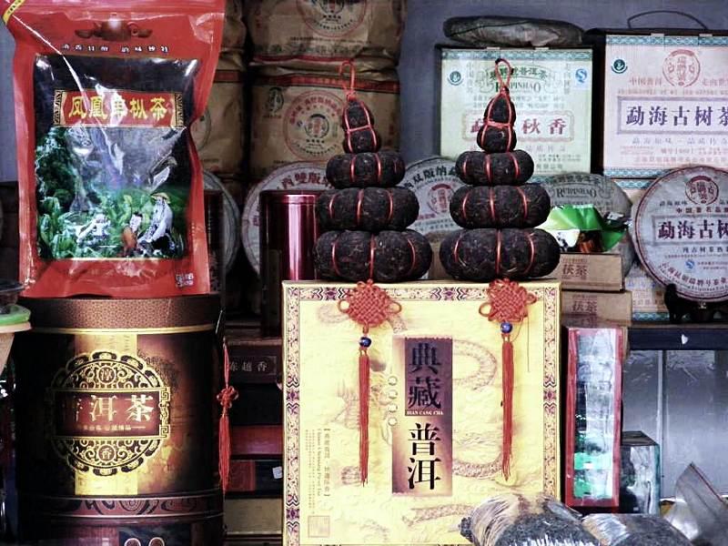 Sklep z herbatą w Chinach