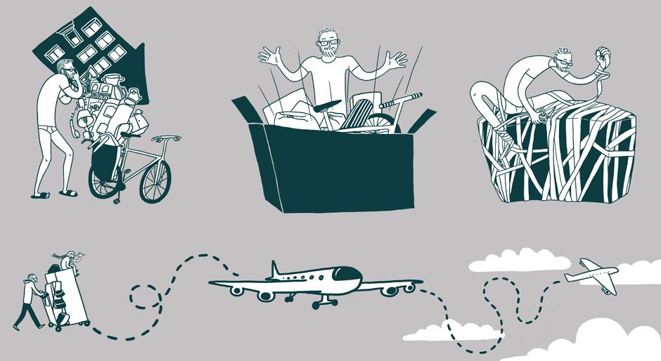 Pakowanie sakw rowerowych