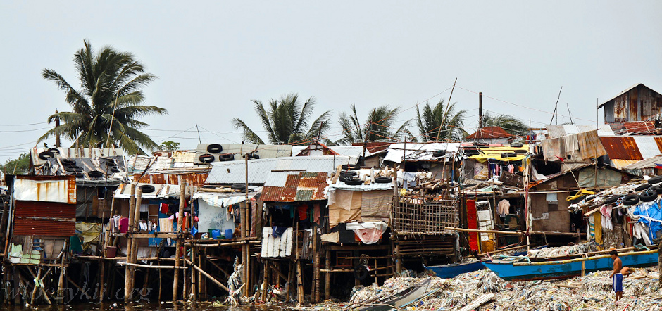 Zdjęcia z azjatyckich slumsów