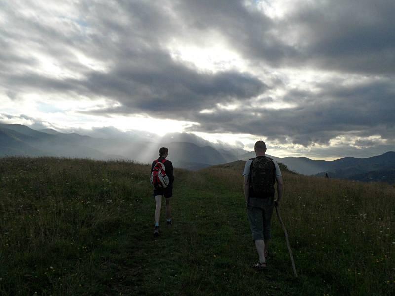 Wędrówka przez pasmo Czarnohory na Ukrainie