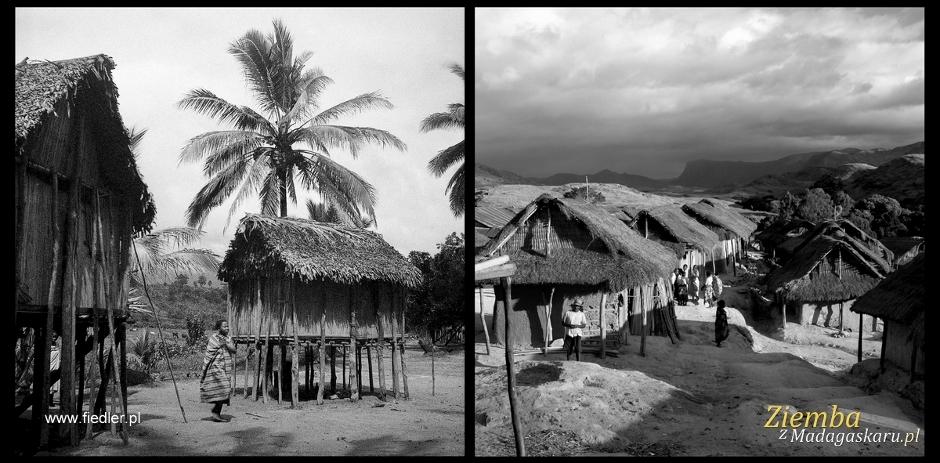 Domy mieszkalne na Madagaskarze. Zdjęcia: Arek Ziemba i Arkady Fiedler.