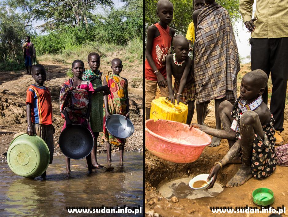 Poszukiwanie z łota w Sudanie Południowym. Zdjęcia z Afryki