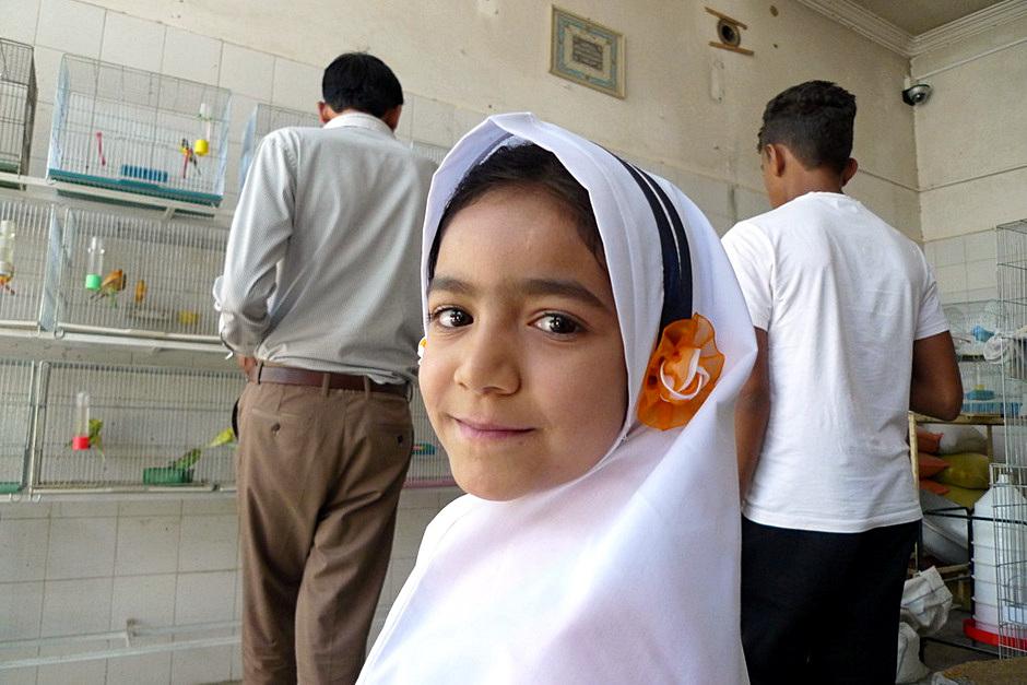 Irańska dziewczynka spotkana w trakcie podróży - foto