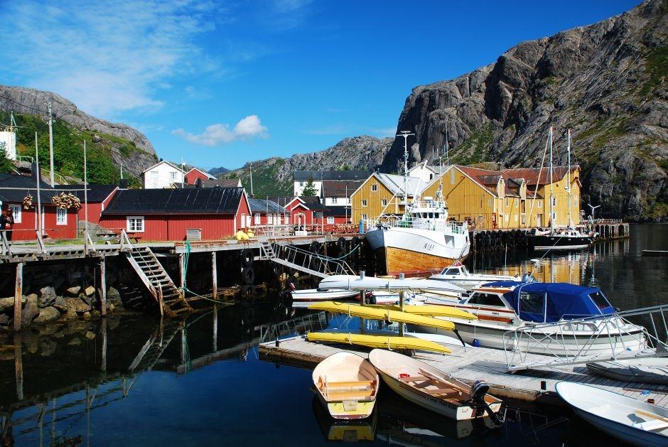 Wioska na palach - foto z Norwegii