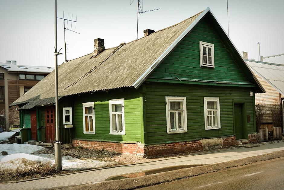 Tradycyjny dom litewskich Karaimów - foto