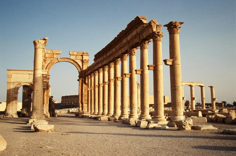 Syria przed wojną. Ruiny w Palmirze