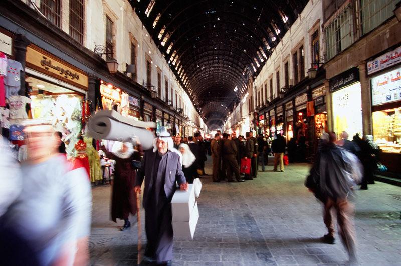 Syria przed wojną. Największy bazar w Damaszku