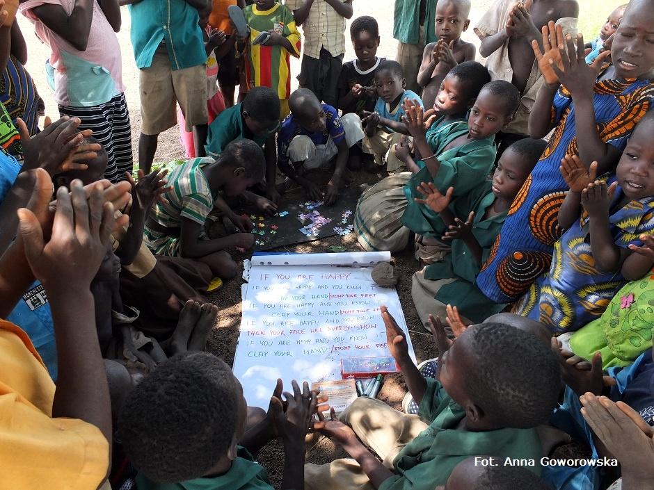 Lekcja w afrykańskiej szkole w Ghanie