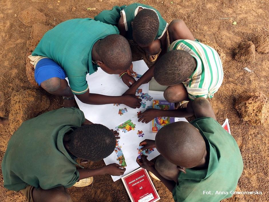 Afrykańskie dzieci w szkole