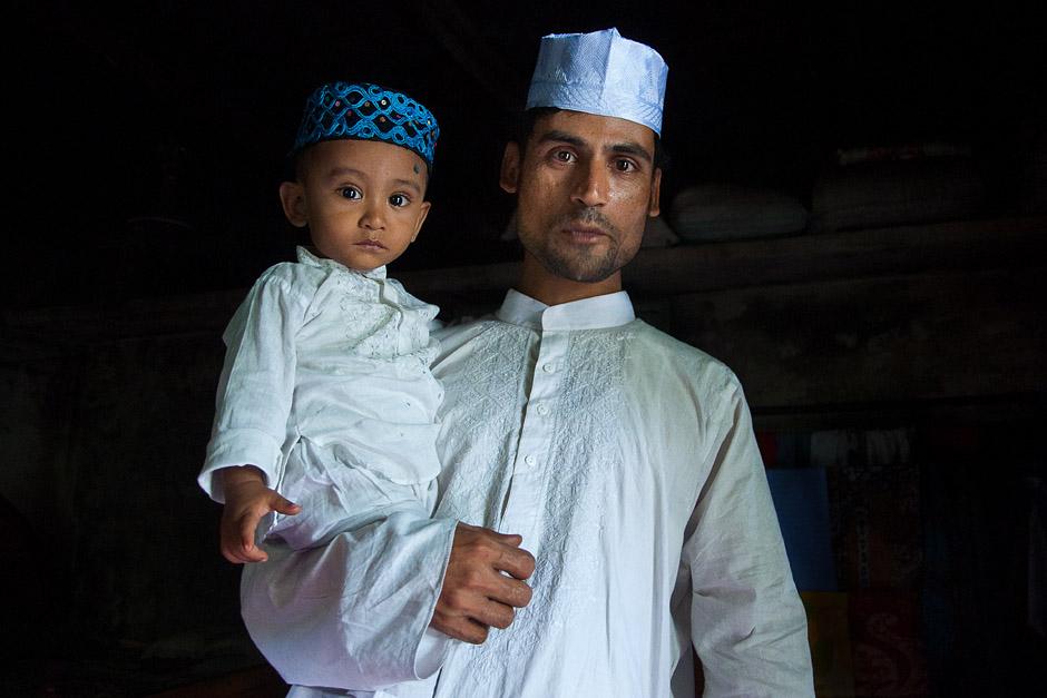 Muzułmanie na ulicach Bangladeszu