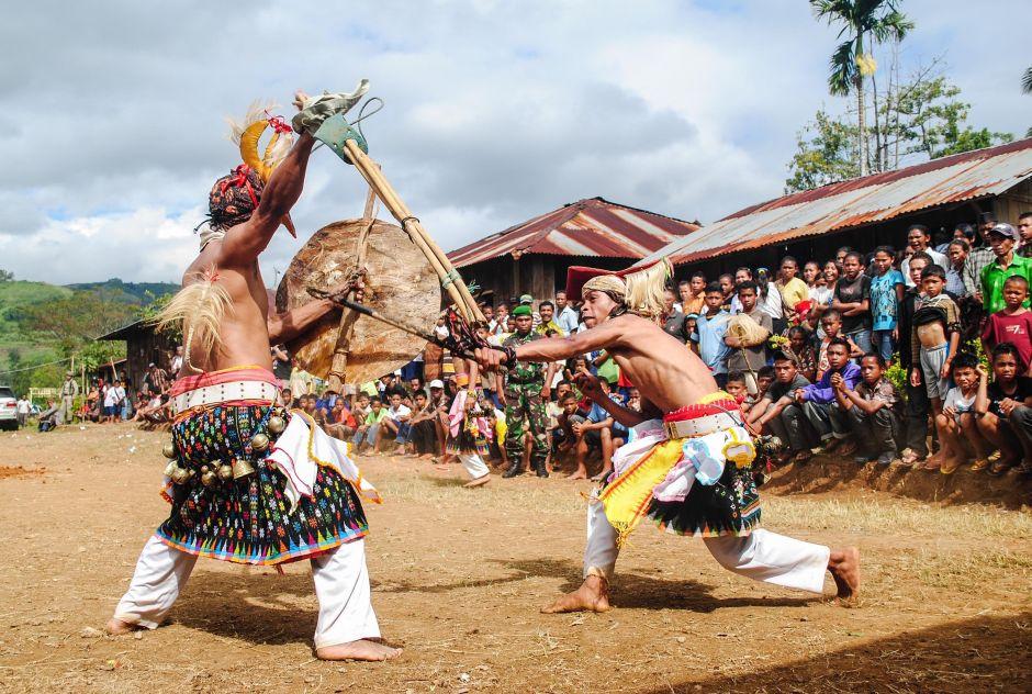 Indonezyjscy wojownicy - zdjęcia, foto