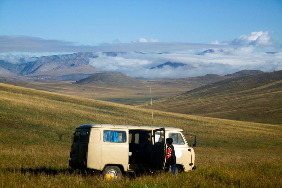 Busem przez Mongolię - podróż, foto