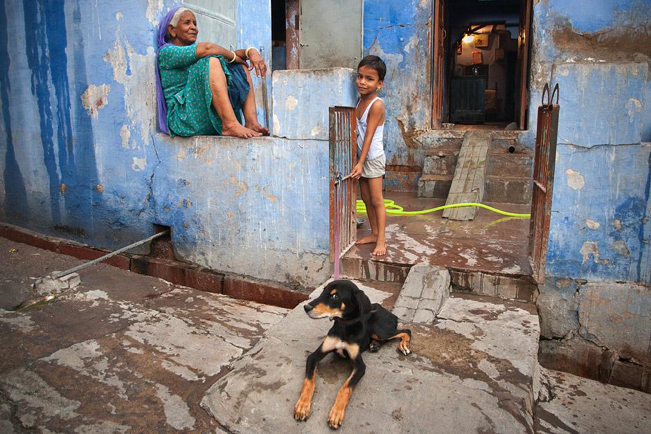 Niebieskie domy w Indiach - foto