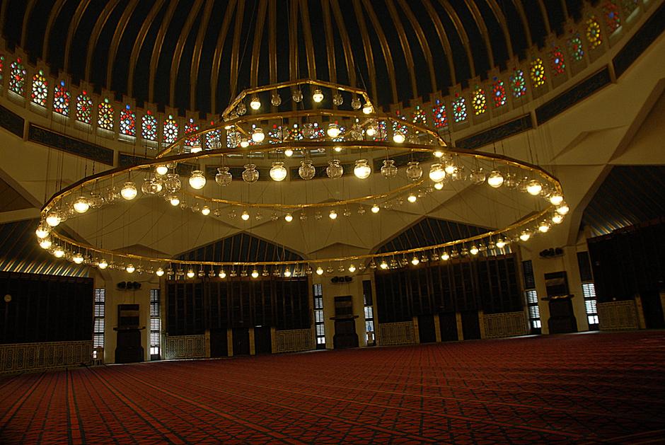 We wnetrzu meczetu - Amman, foto