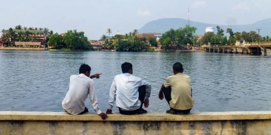 Miasteczko Kampot w Kambodży