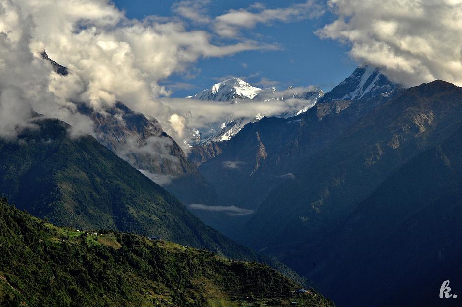 Widok na Himalaje - foto
