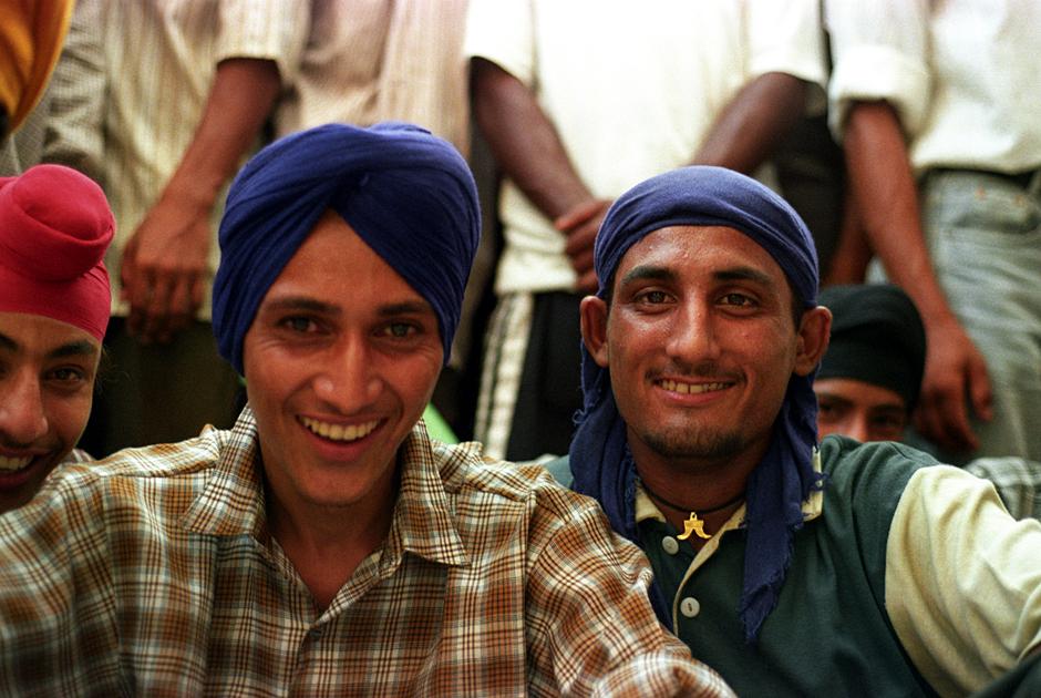 Młodzi sikhowie w Amritsarze