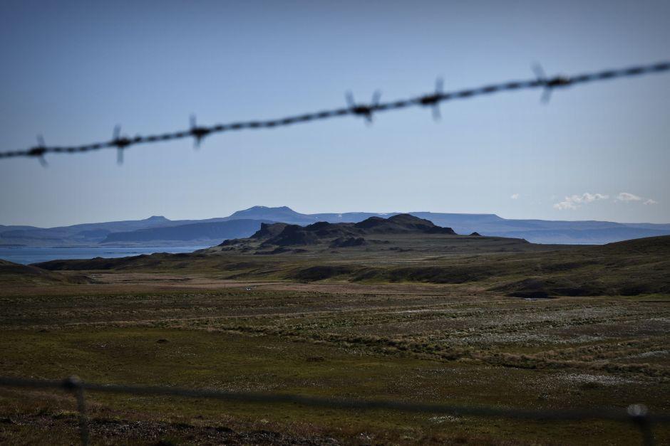 Księzycowy krajobraz Islandii - foto
