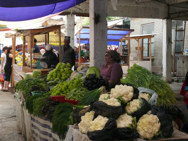 Bazar w Uzbekistanie