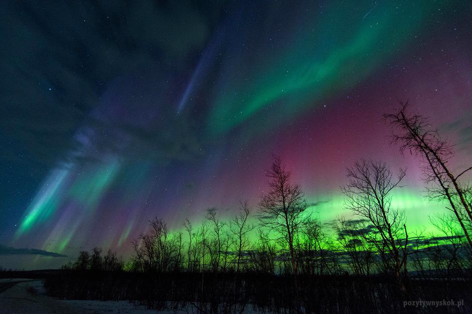 Zorza polarna w Finlandii - foto