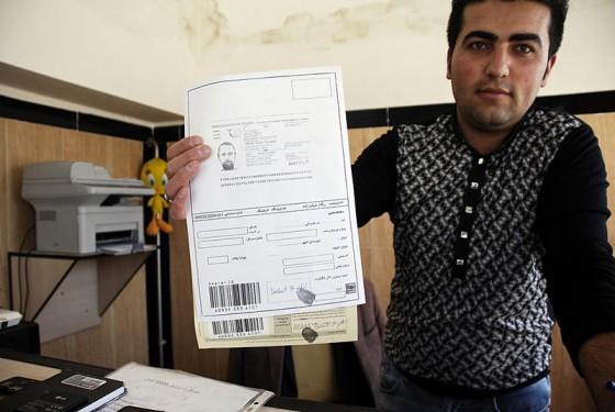 Odciski palców - staranie się o karte telefoniczna w Iranie