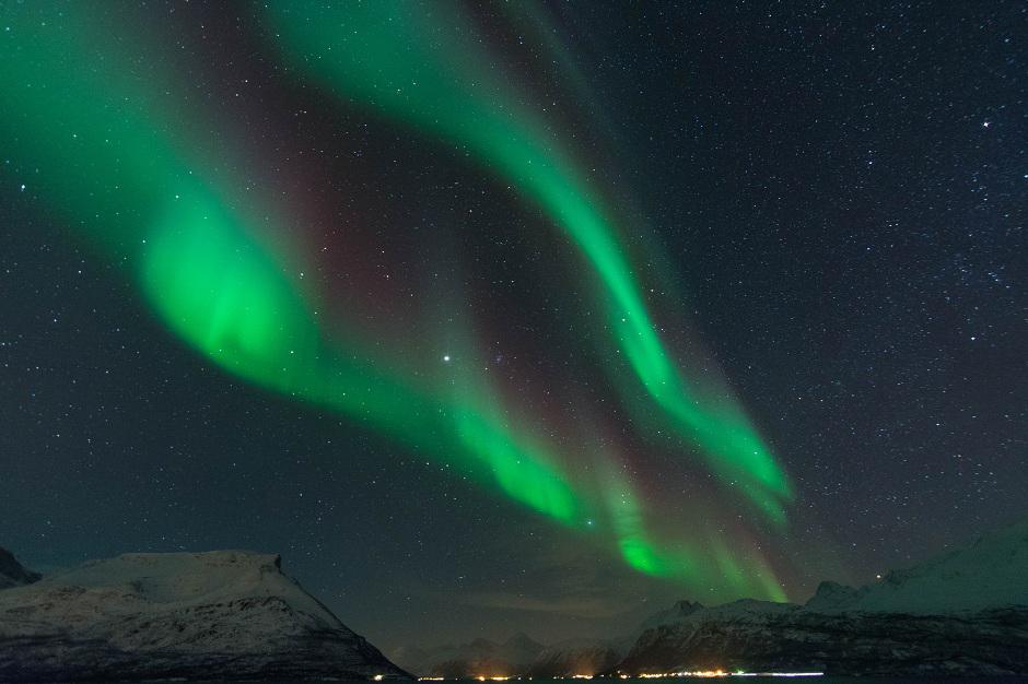 Skibotn w Norwegfii - zorza polarna - zdjęcia