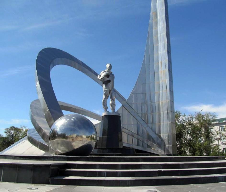 Pomnik Gagarina w Karagandzie, Kazachstan
