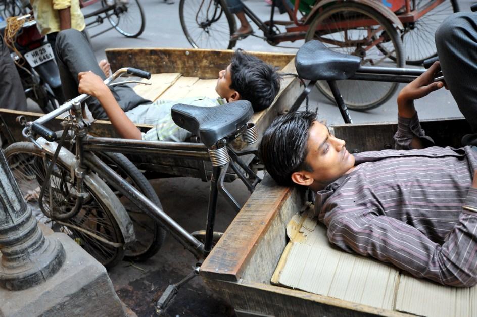 Rikszarze z New Delhi