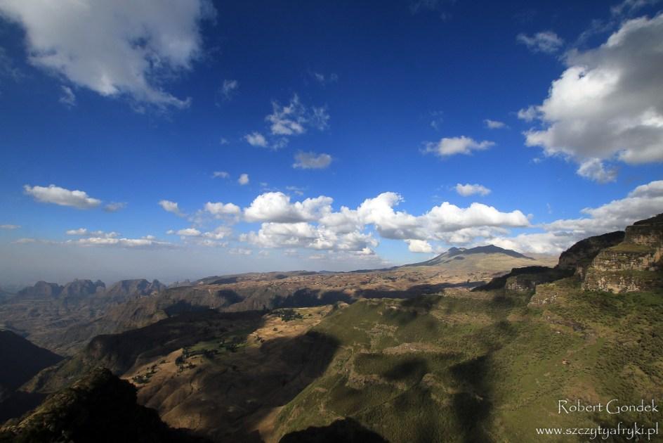Krajobrazy Etiopii, góry Semien