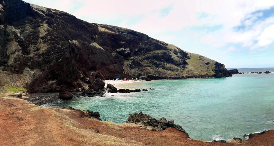 Podróż na Wyspę Wielkanocną, zdjęcia z plaży