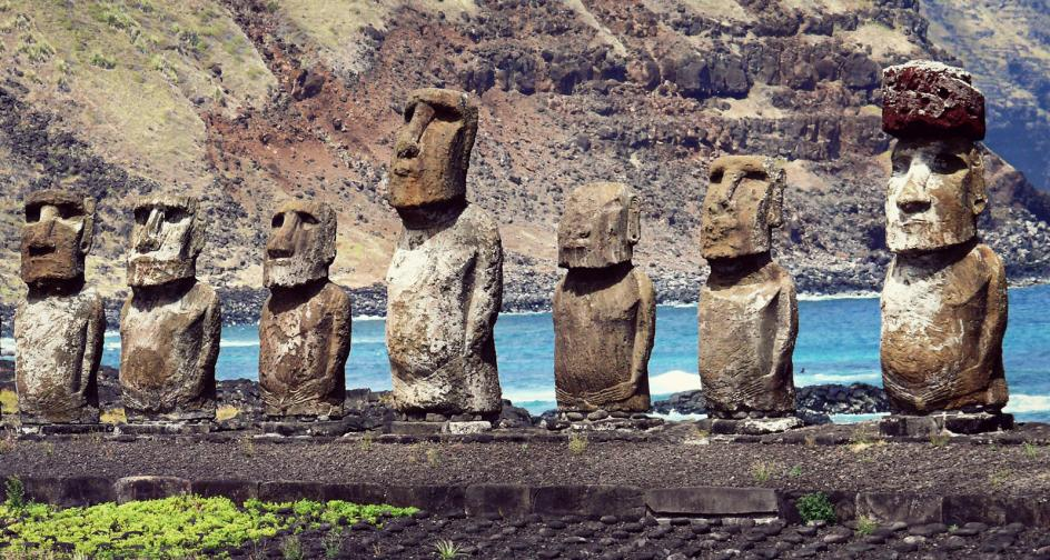 Tongariki, najbardziej znane moai na Rapa Nui