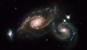 Imagen de dos galaxias espirales en Virgo. Crédito: NASA, ESA, M. Livio (STScI) and the Hubble Heritage Team (STScI/AURA).