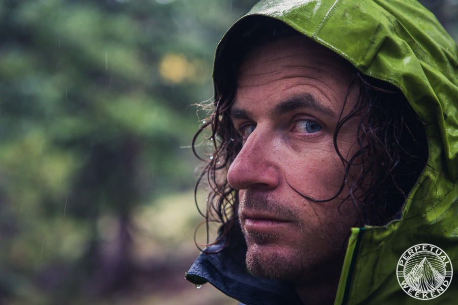 Brendan Leonard contemplates the downpour