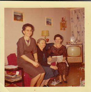 Anne, Granny Starcheski and Jessie - Xmas 1963