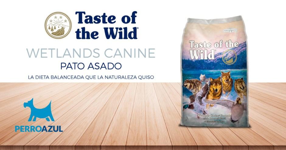 Taste of the Wild Wetlands Canine de Pato Asado para Adulto