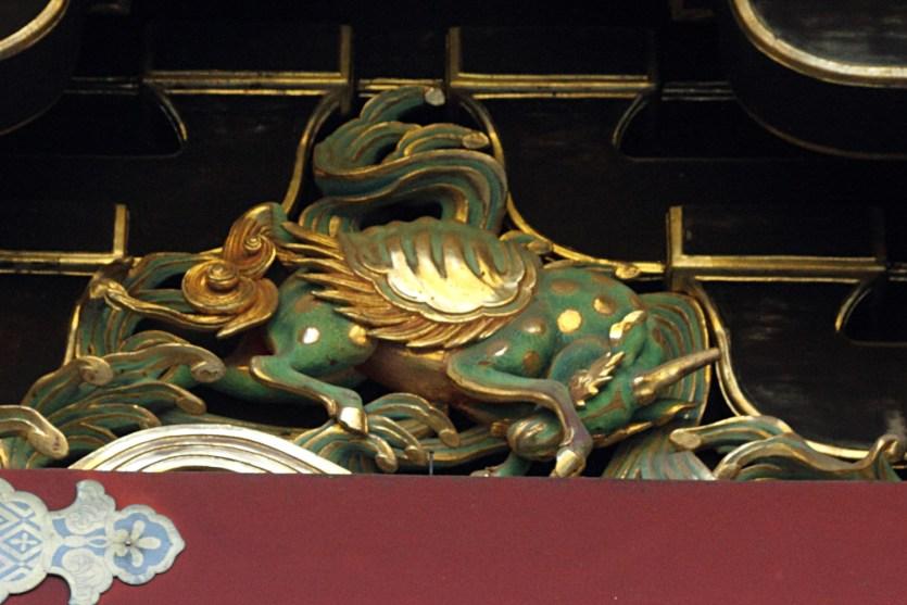 Relieve de un kirin en Taiyuin-byo, Nikko