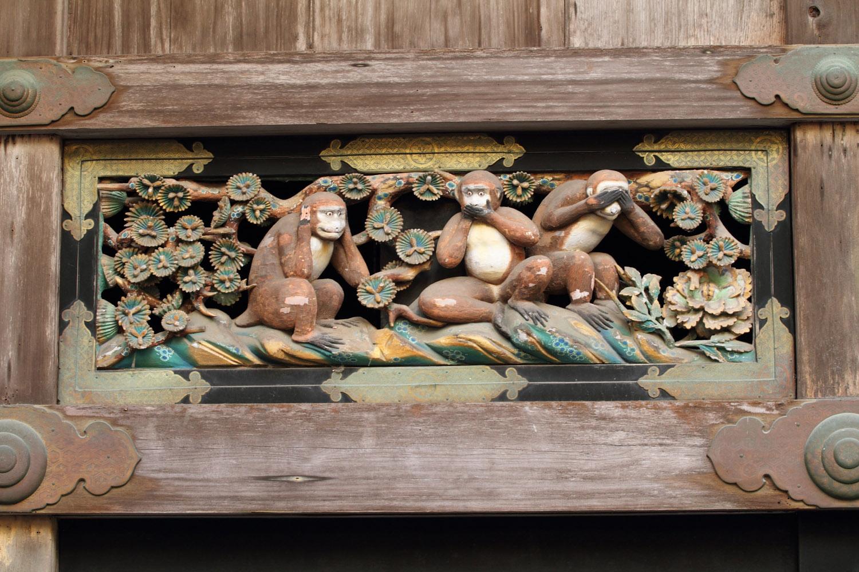 Los tres monos sabios de Nikko: no oyen, no dicen, ni ven maldad