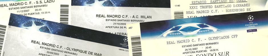 Entradas para partidos del Real Madrid en el Santiago Bernabeú