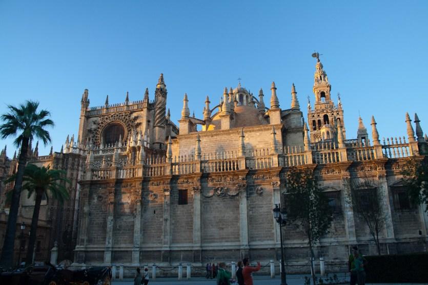 Exterior de la Catedral de Sevilla, España