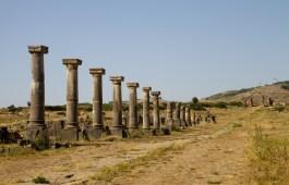 Vía Apia en Volubulis, Marruecos