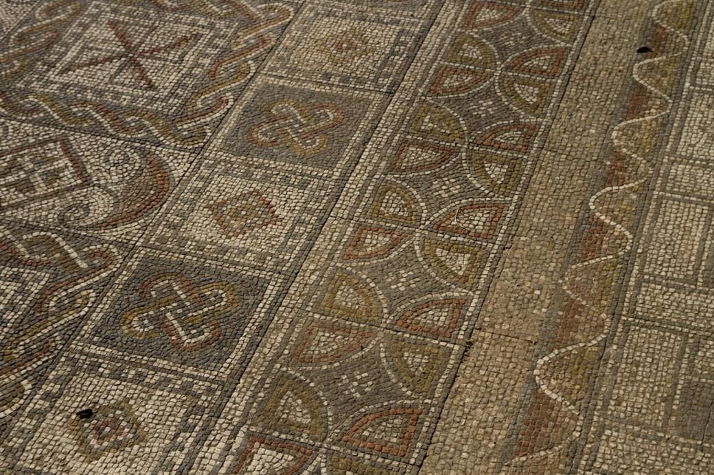 Mosaicos en Volubilis, Marruecos