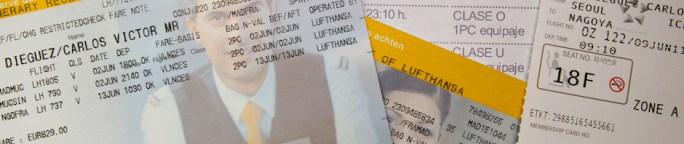 Recibos y tarjetas de embarque