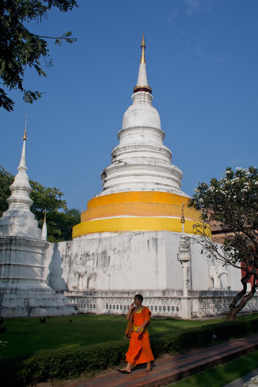 Wat Phra Singh, uno de los templos budistas en Chiang Mai, Tailandia