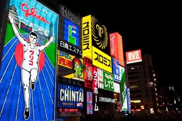 Luces de neón de Dotombori, Osaka, Japón
