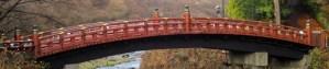 El puente sagrado Shinkyo en Nikko, Japón