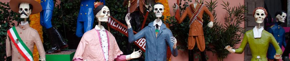 Calacas del día de los muertos en Ciudad de México